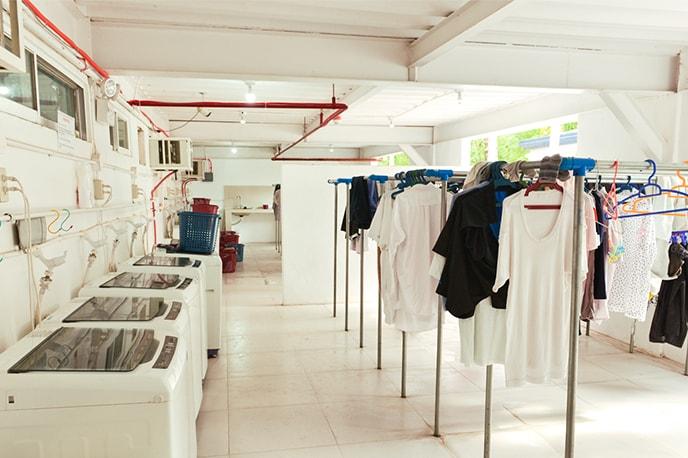 Area de lavanderia 24 horas